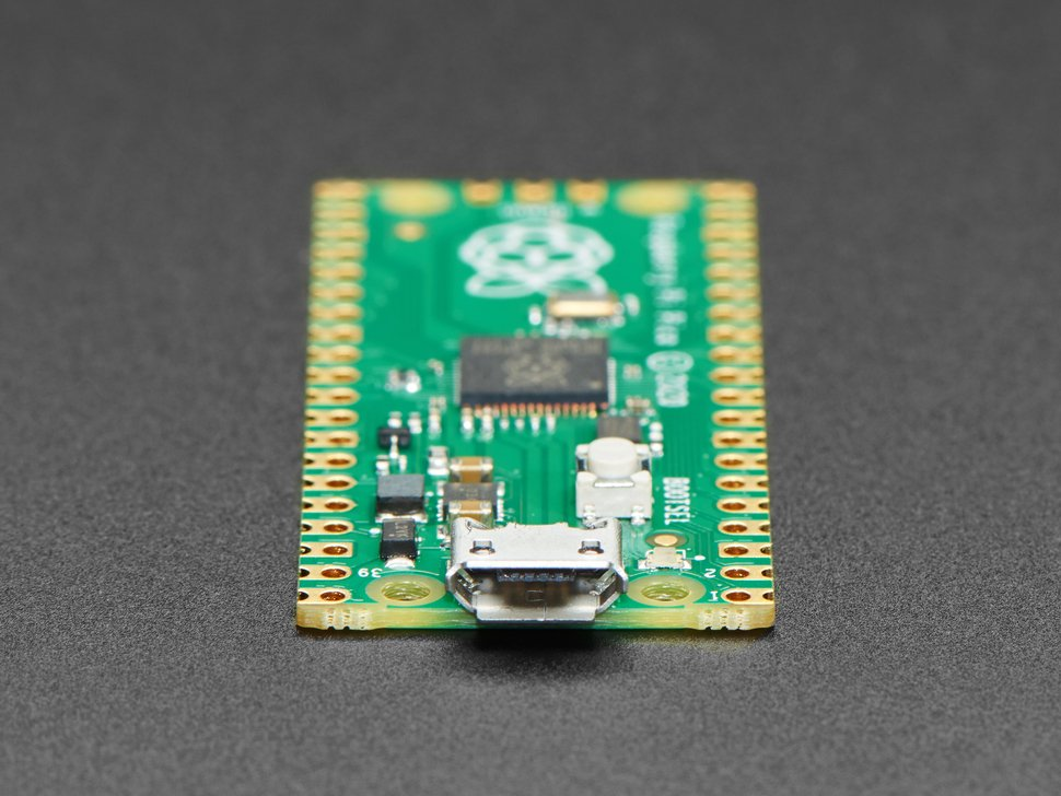 close up of micro USB port on Raspberry Pi Pico