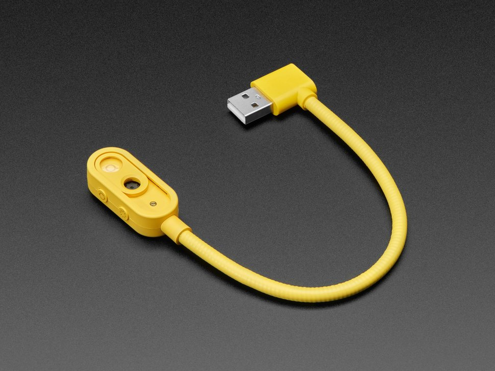 Yellow lolipop camera with USB A connector