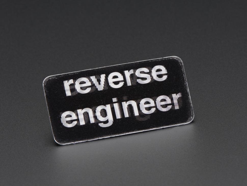 Reverse Engineer - Skill badge, Lenticular printing + pin-on
