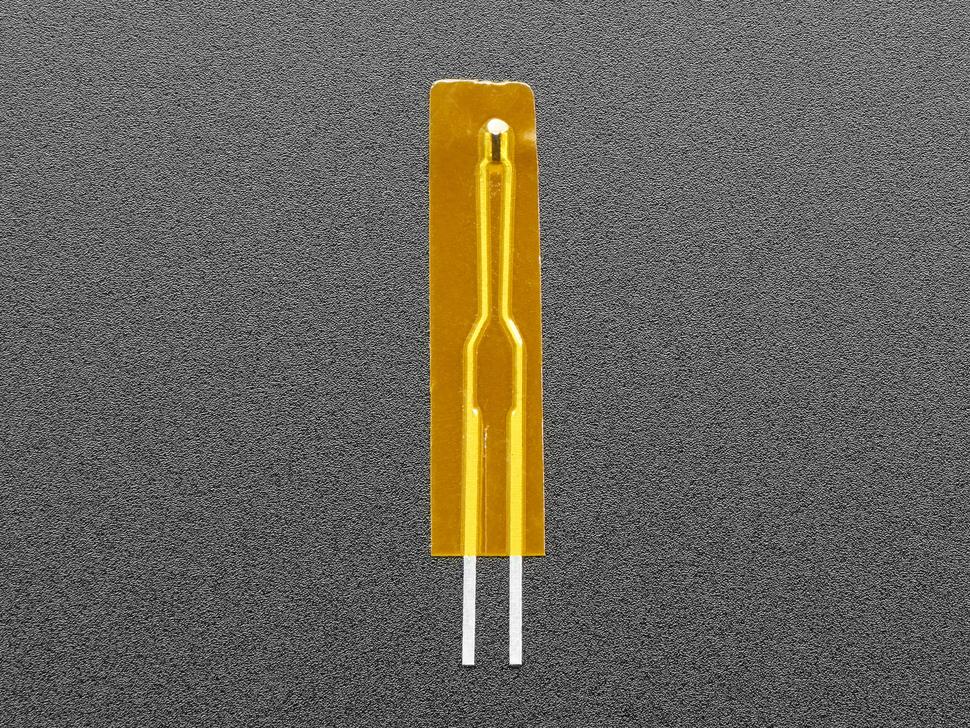 Topdown shot of mini thermistor sensor.