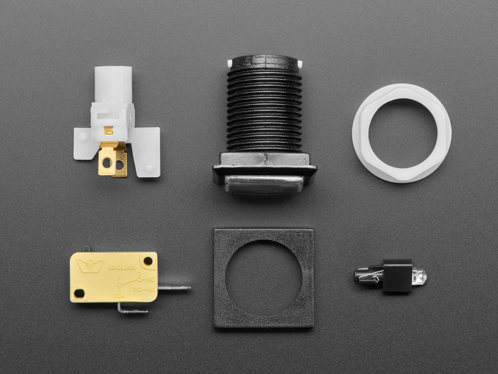 Disassembled push-button parts
