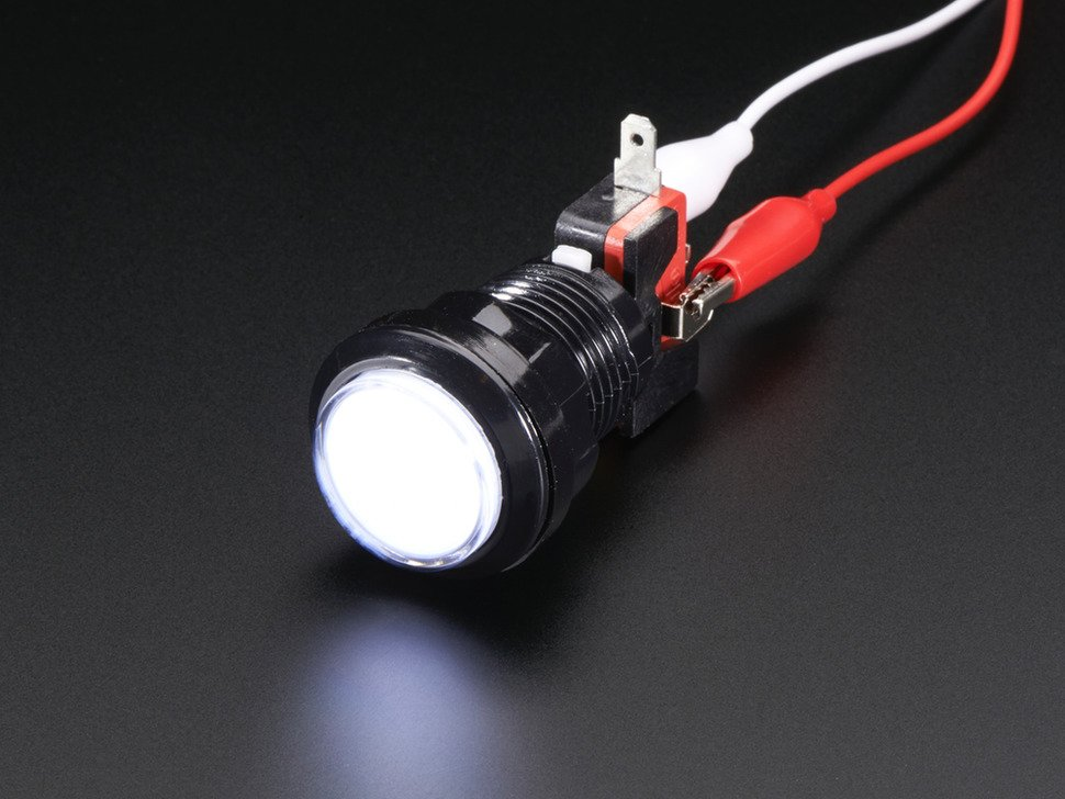 LED Illuminated Pushbutton - 30mm Round