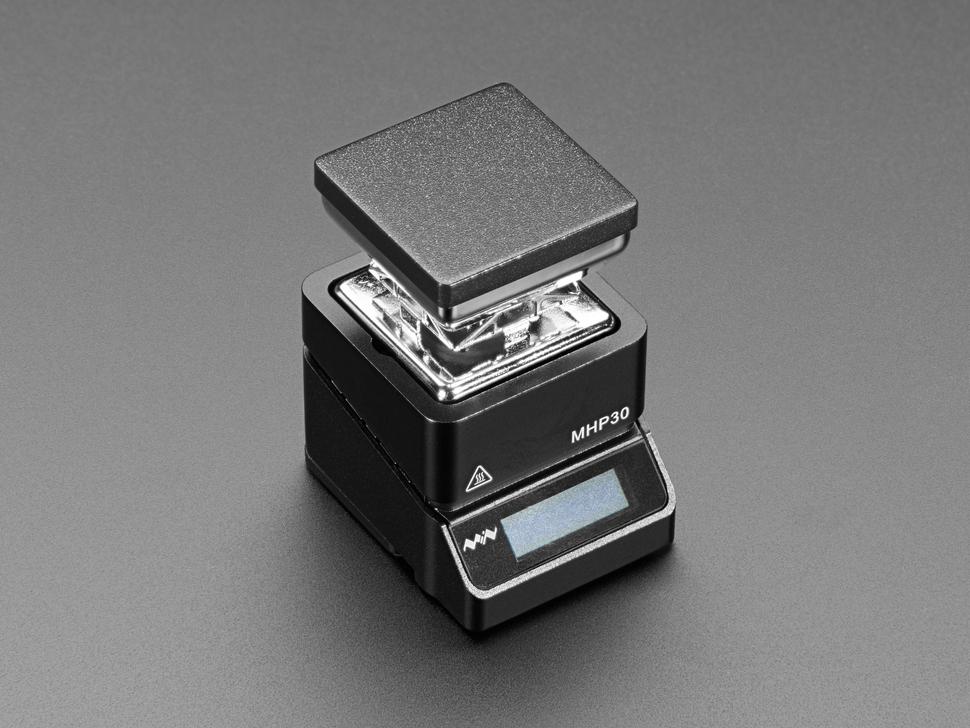 Angled shot of assembled mini burner.