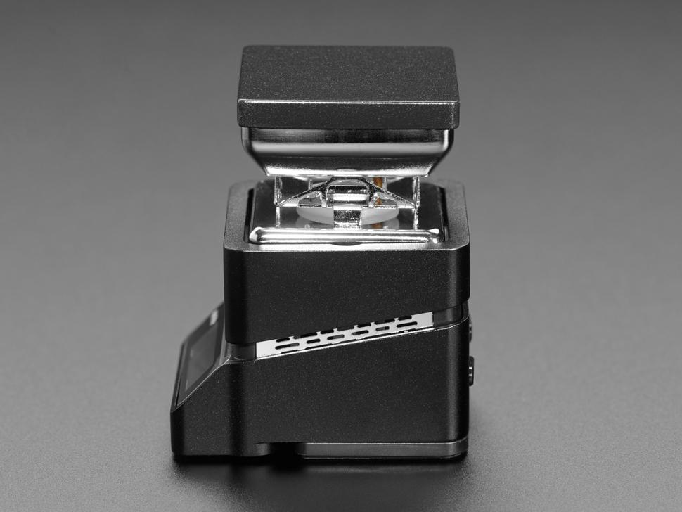 Side shot of assembled mini burner.