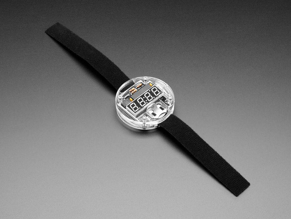 Angle shot of watch with strap