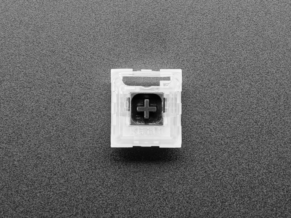 Top view of black Kailh key switch.