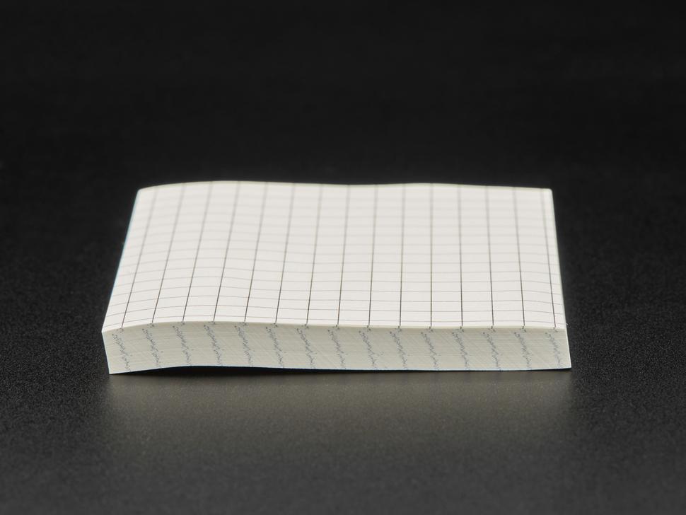 Side shot of Gridded Sticky Notepad