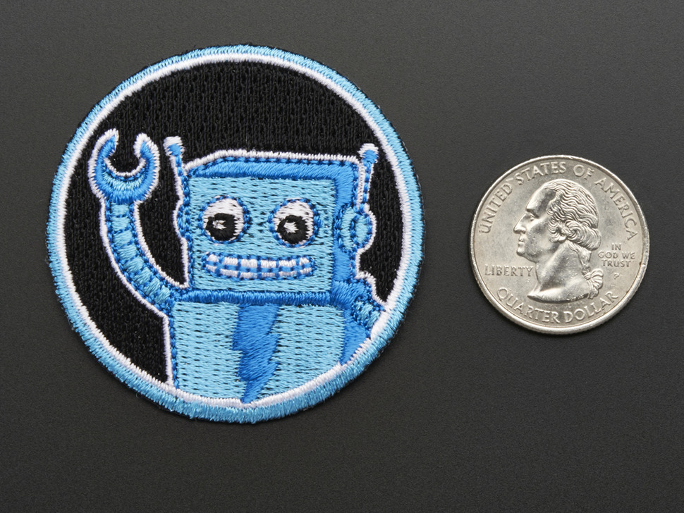 Robotics! - Skill badge, iron-on patch