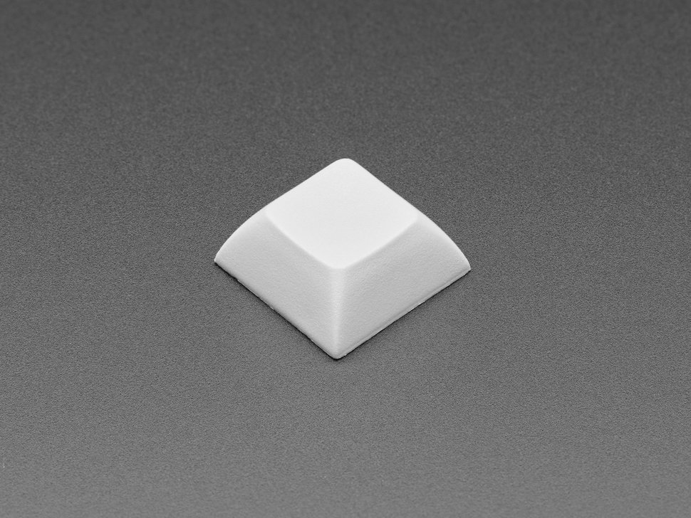 Single gray plastic keycap