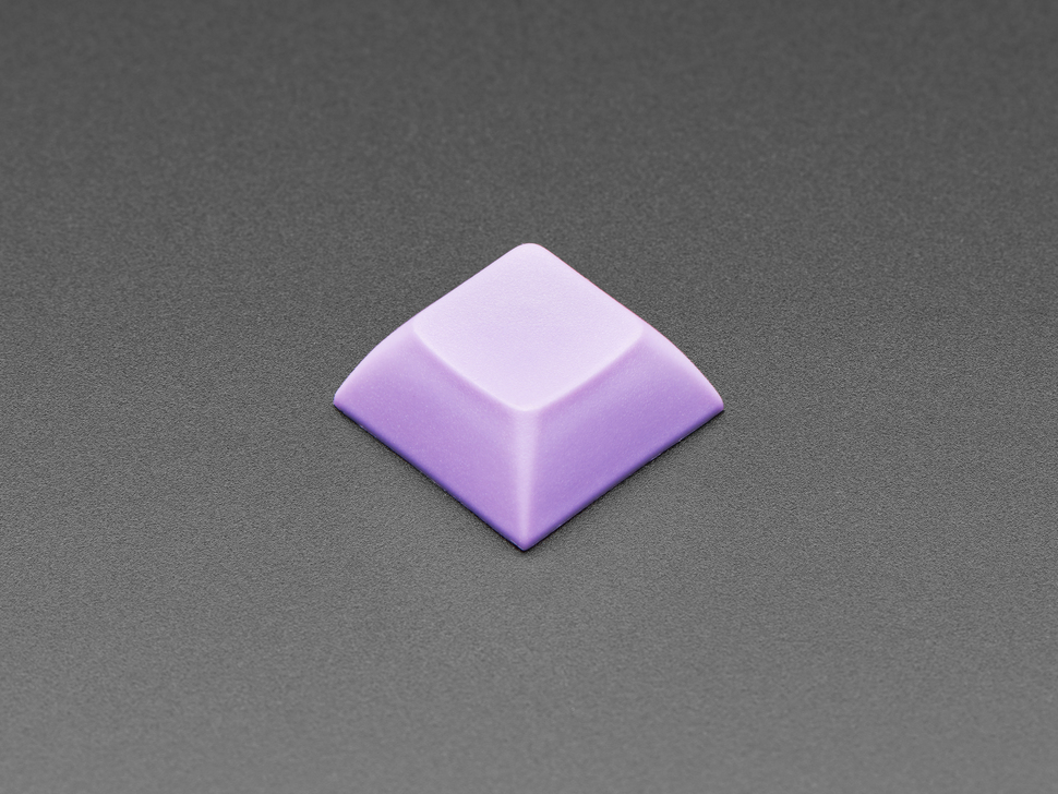 Single lavender plastic keycap