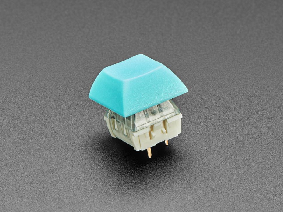Light Blue DSA keycap installed on Cherry MX switch