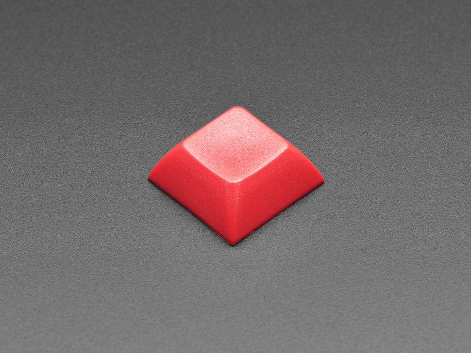Top view of DSA red color keycap