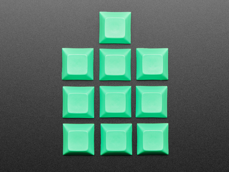 Top shot of Grouped DSA FLUORESCENT GREEN color keycap