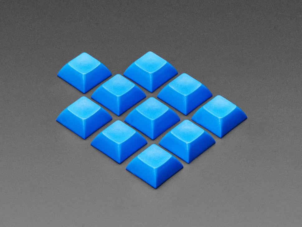 Group shot of 10 pack DSA color keycap DARK BLUE KIT