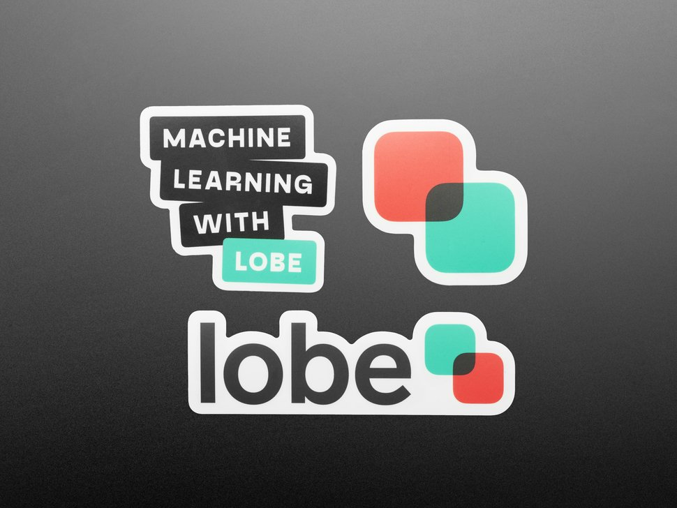 3 stickers featuring Lobe and machine learning.