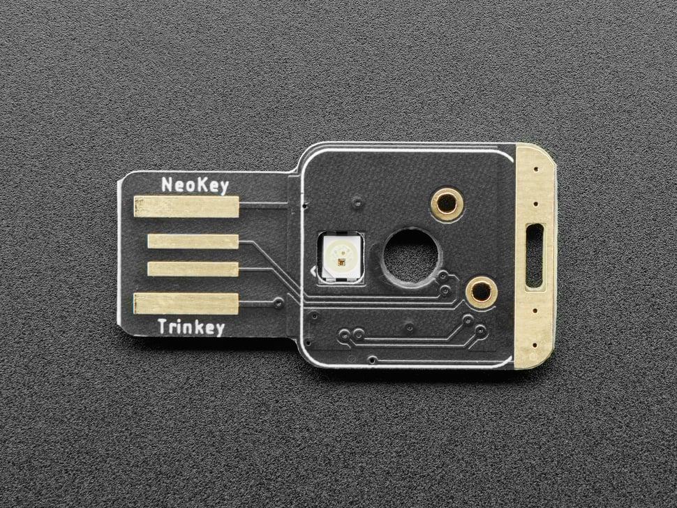 Top view of NeoKey Trinkey.