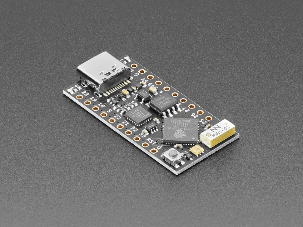 Angled shot of TinyPICO with USB-C.