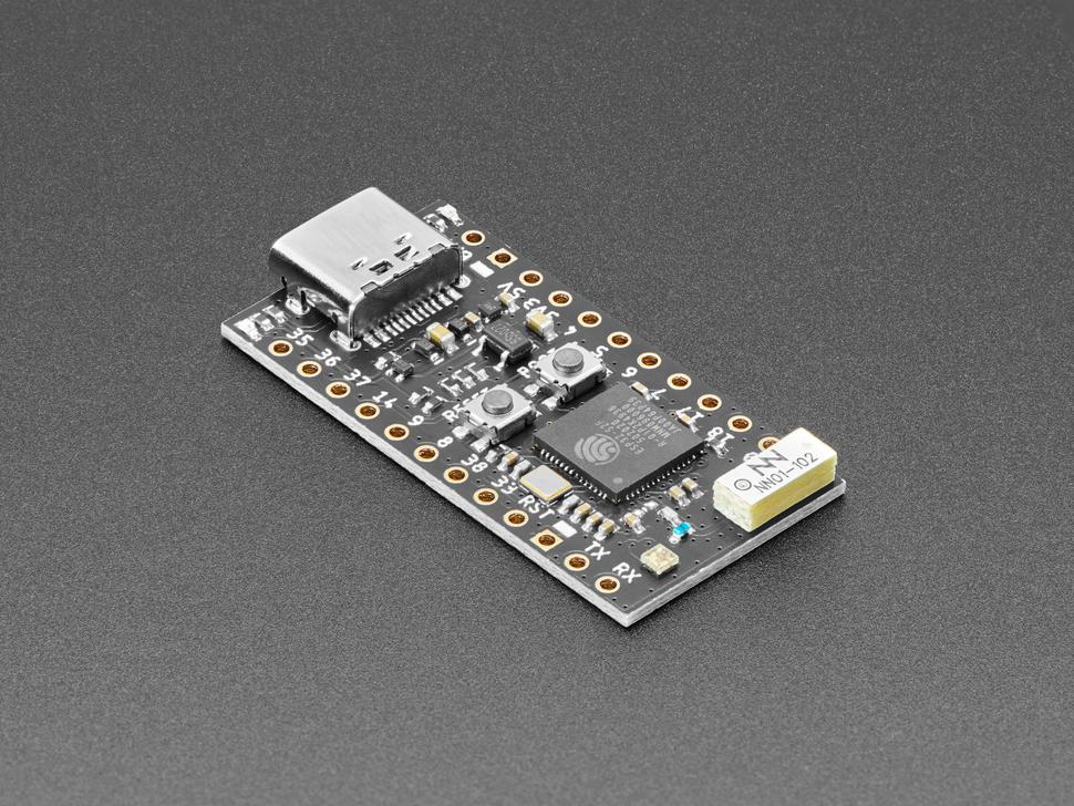 Angled shot of TinyS2 dev board.