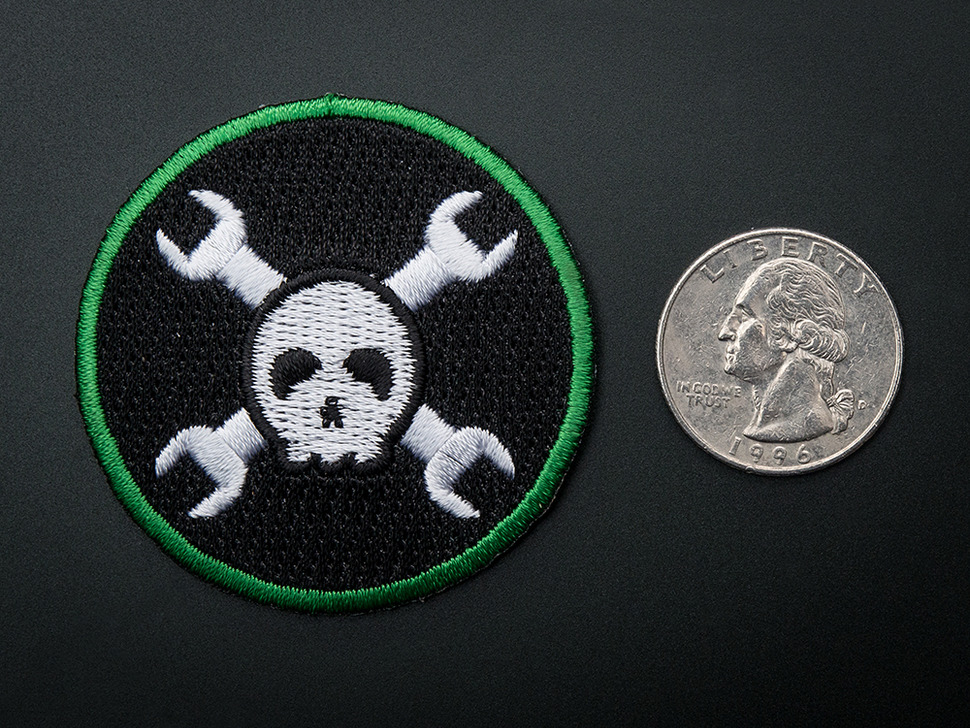 Hack-a-Day -  Badge, iron-on patch