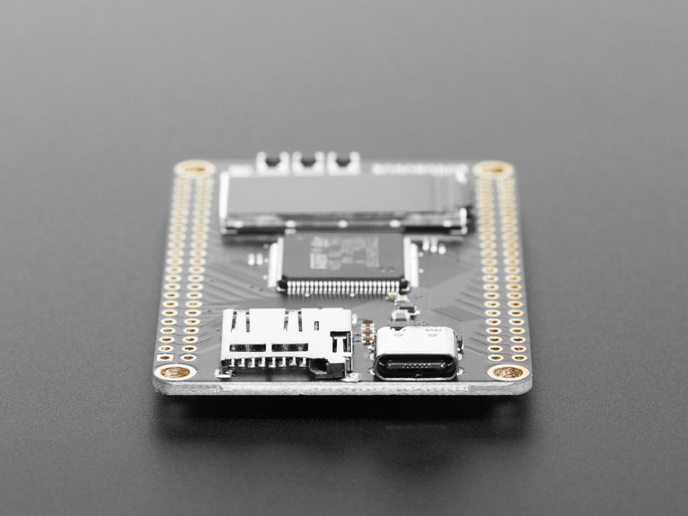 Side detail of USB C port and microSD slot on WeAct Studio STM32H750