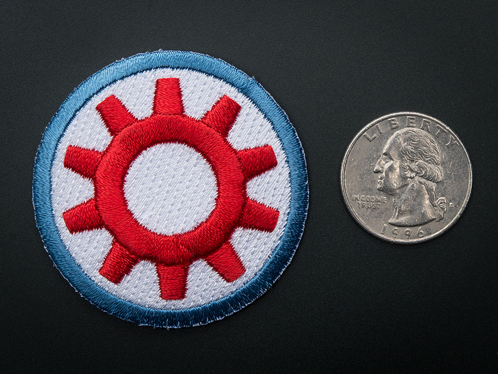 TechShop -  Badge, iron-on patch