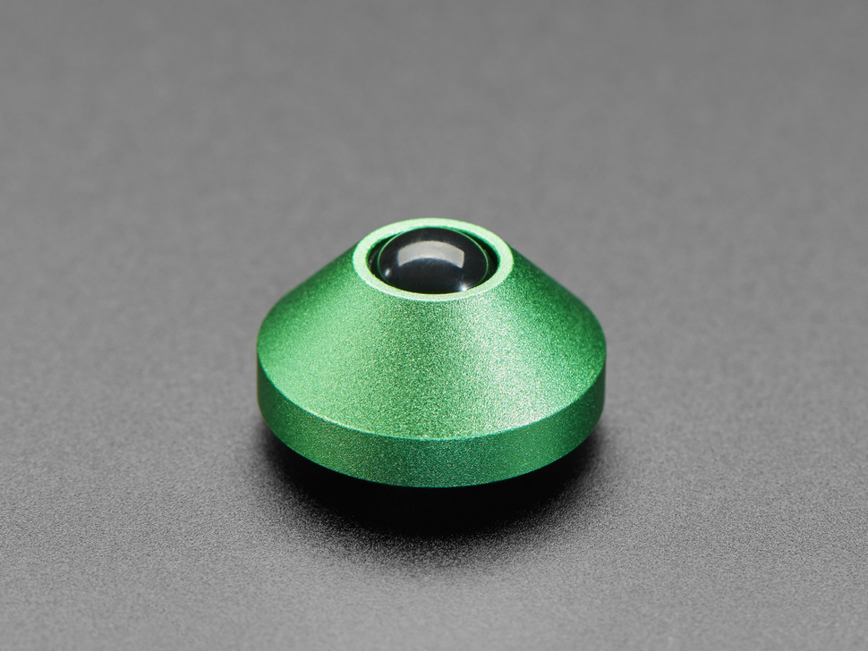 Single green aluminum rubber feet.