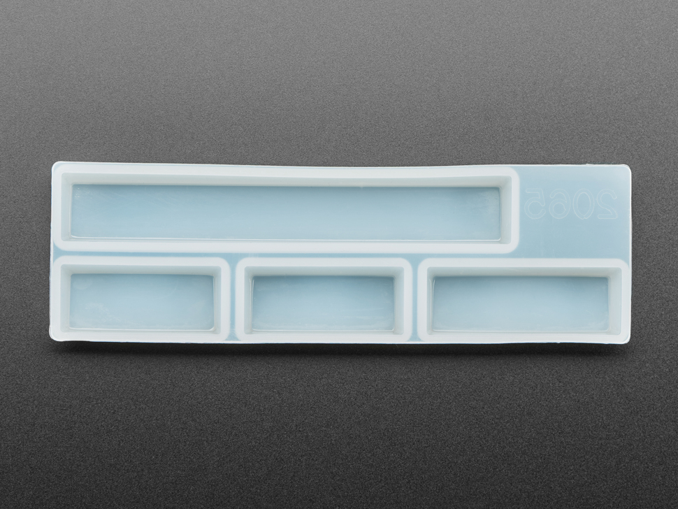 Spacebar part of keycap mold.