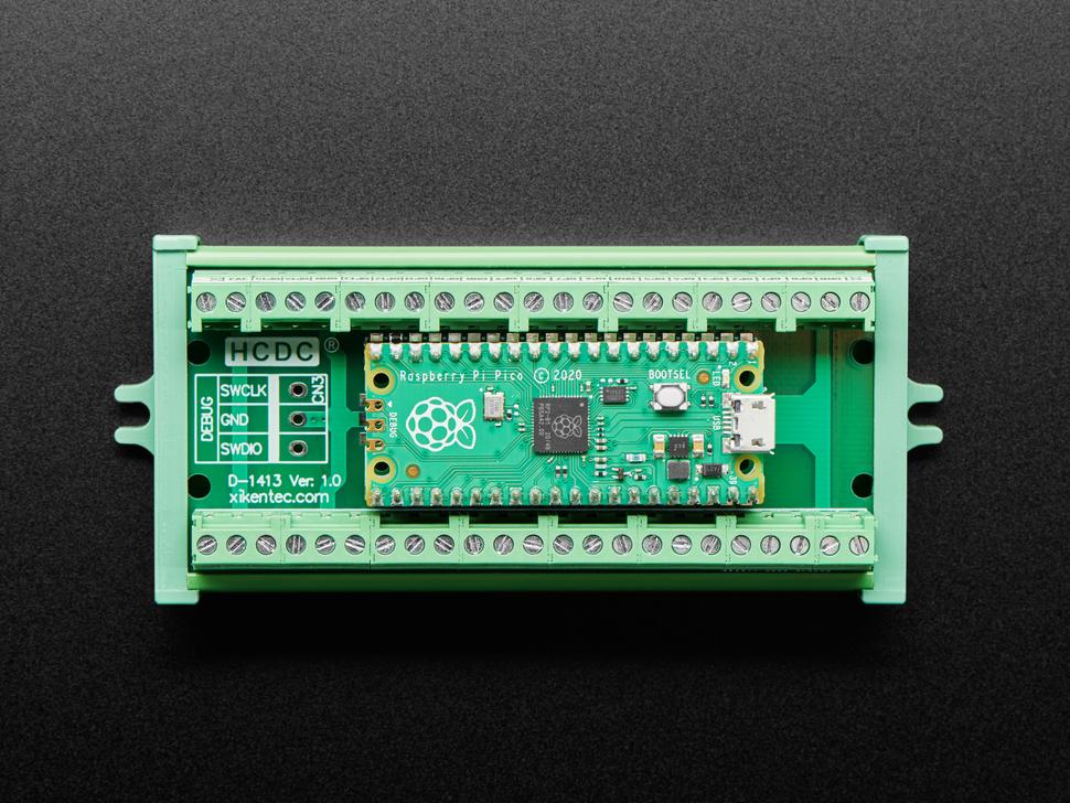 Terminal Block Breakout Module with a Raspberry Pi Pico