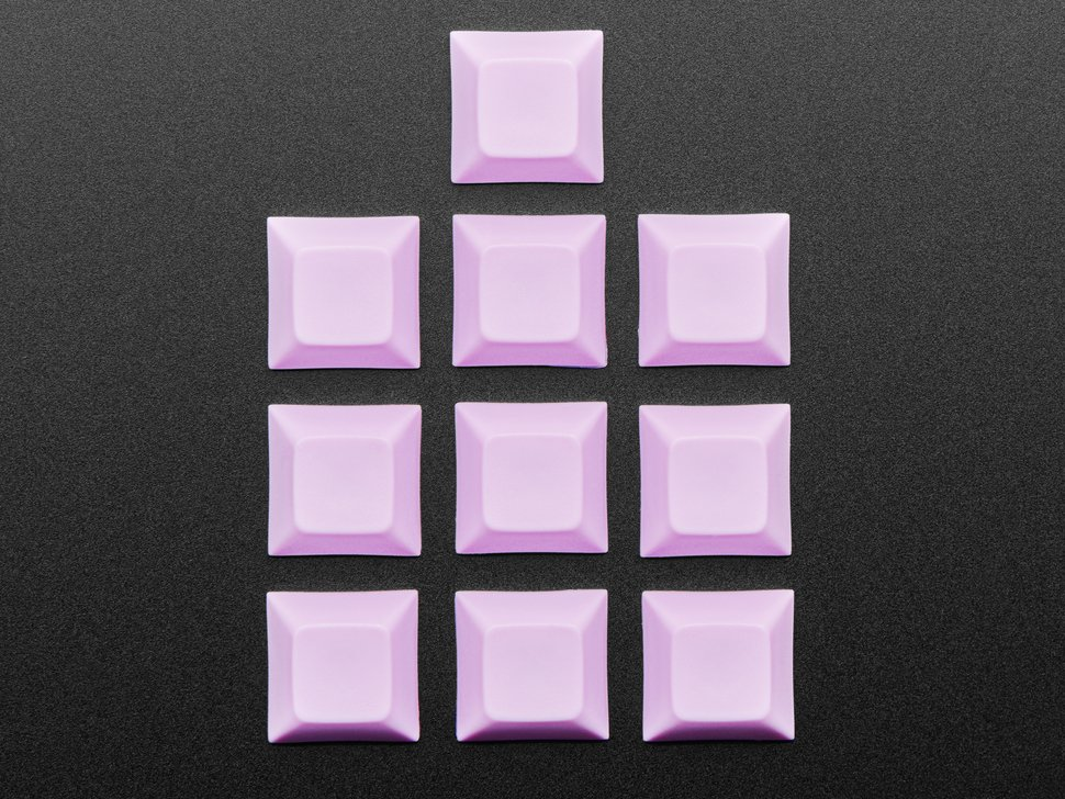 Top shot of 10 pack DSA color keycap Light Purple KIT