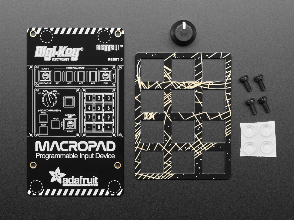 Top view of MacroPad add on pack