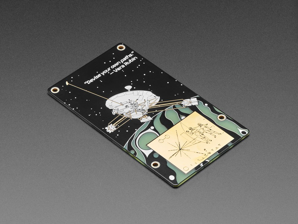Top view of MacroPad PCB featuring a satellite.