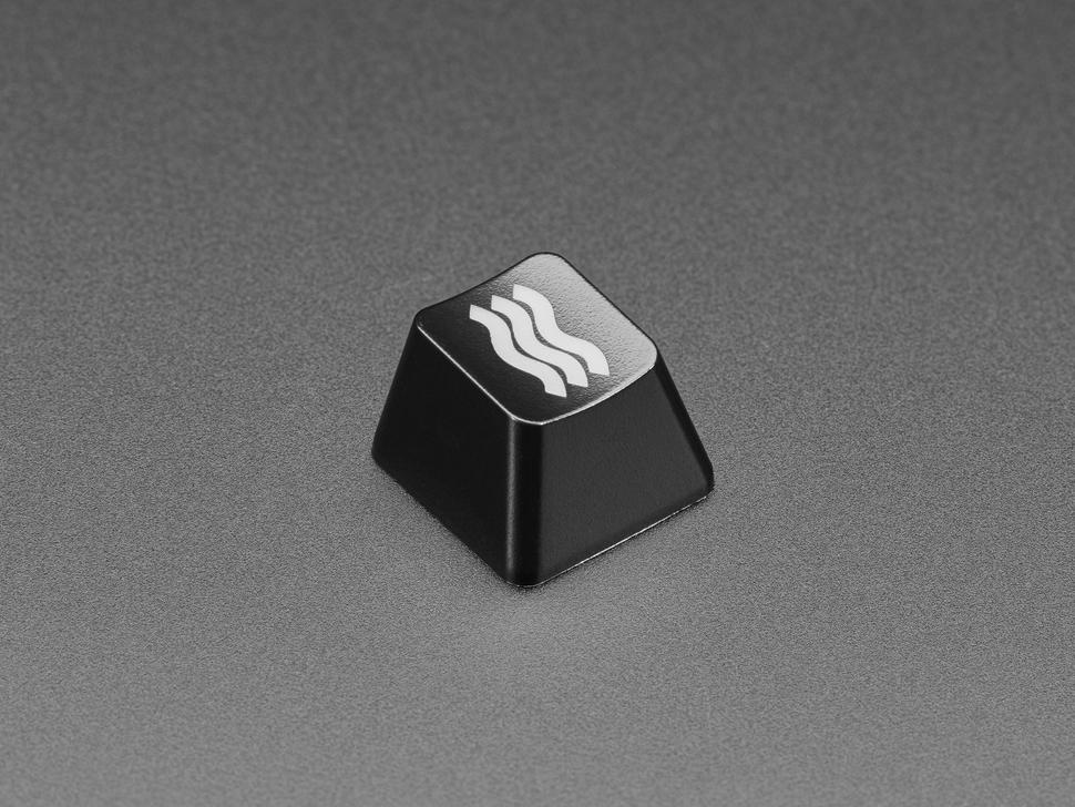 Angled shot of Etched Glow-Through Zener ESP Waves keycap.