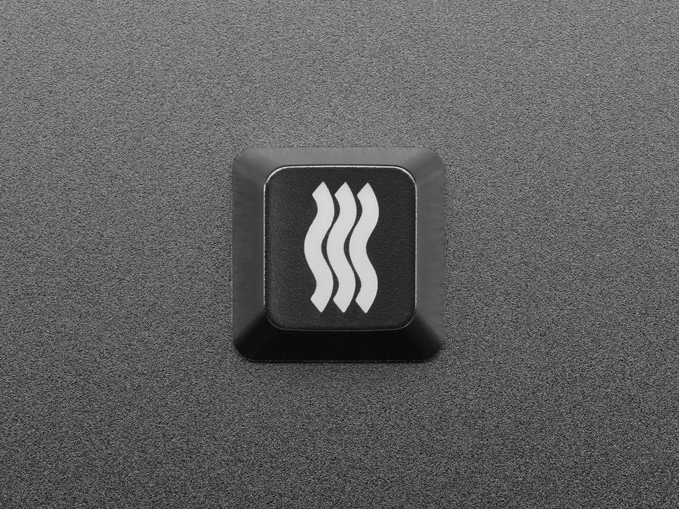 Top view of Etched Glow-Through Zener ESP Waves keycap.