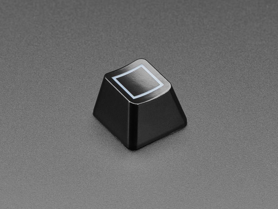 Angled shot of Zener Square ESP Design keycap.