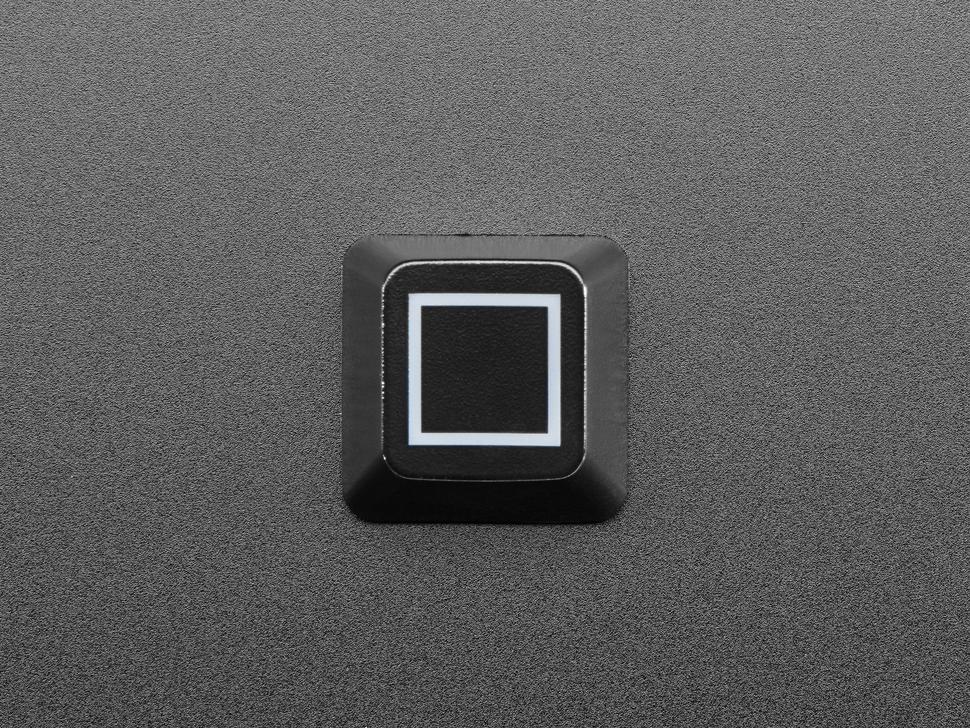 Top view of Zener Square ESP Design keycap.