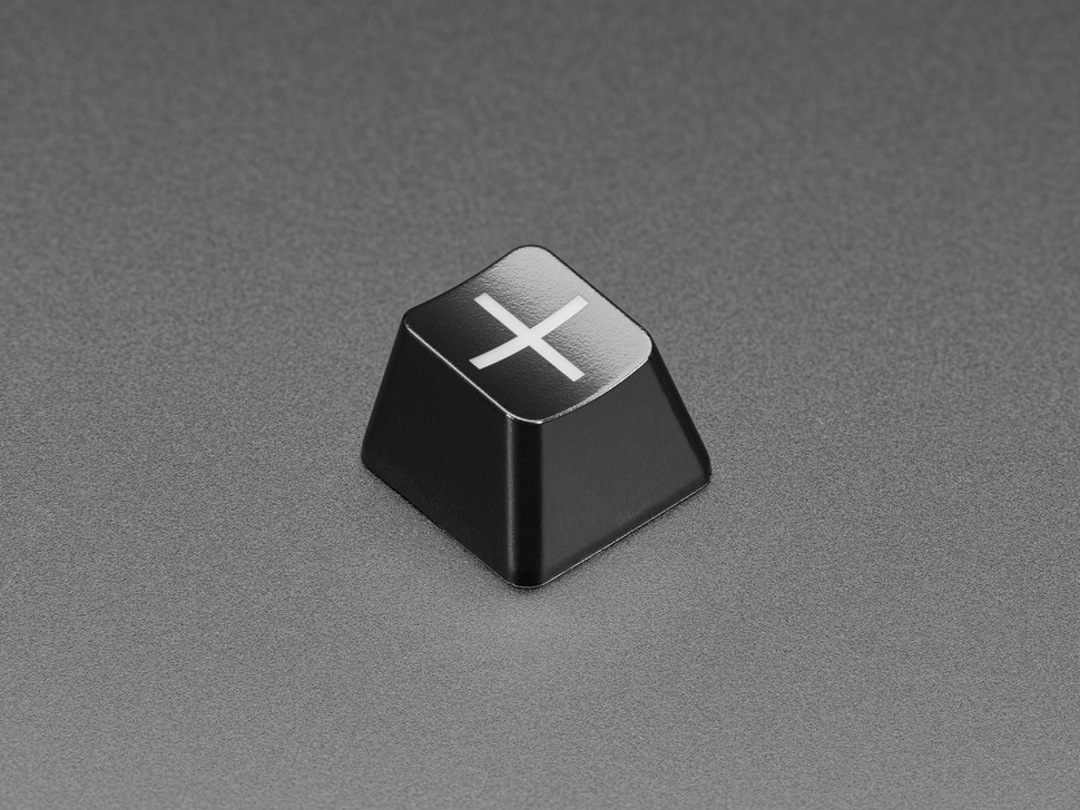 Angled shot of Etched Glow-Through Zener Plus R4 Keycap.