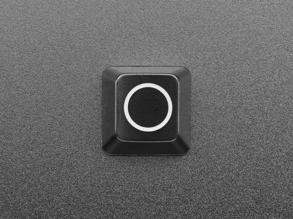 Top view of Etched Glow-Through Zener Circle R4 Keycap.