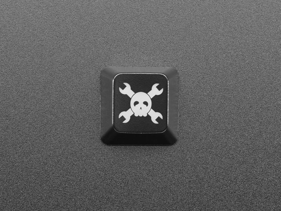 Top view of Hackaday R4 keycap.