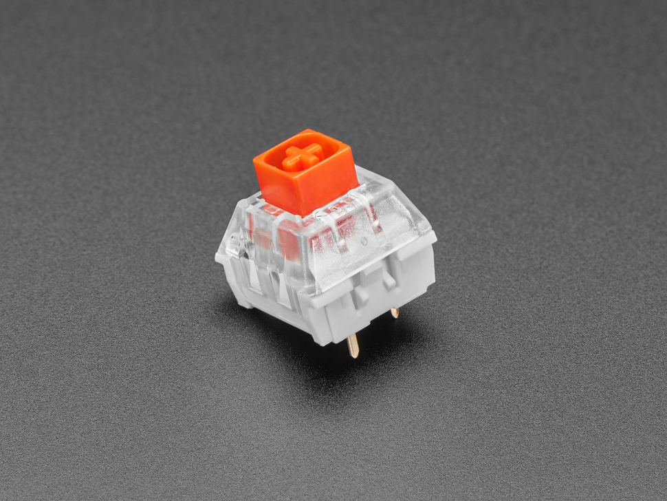Single shot of 12 pack Red Kailh Mechanical Key Switches