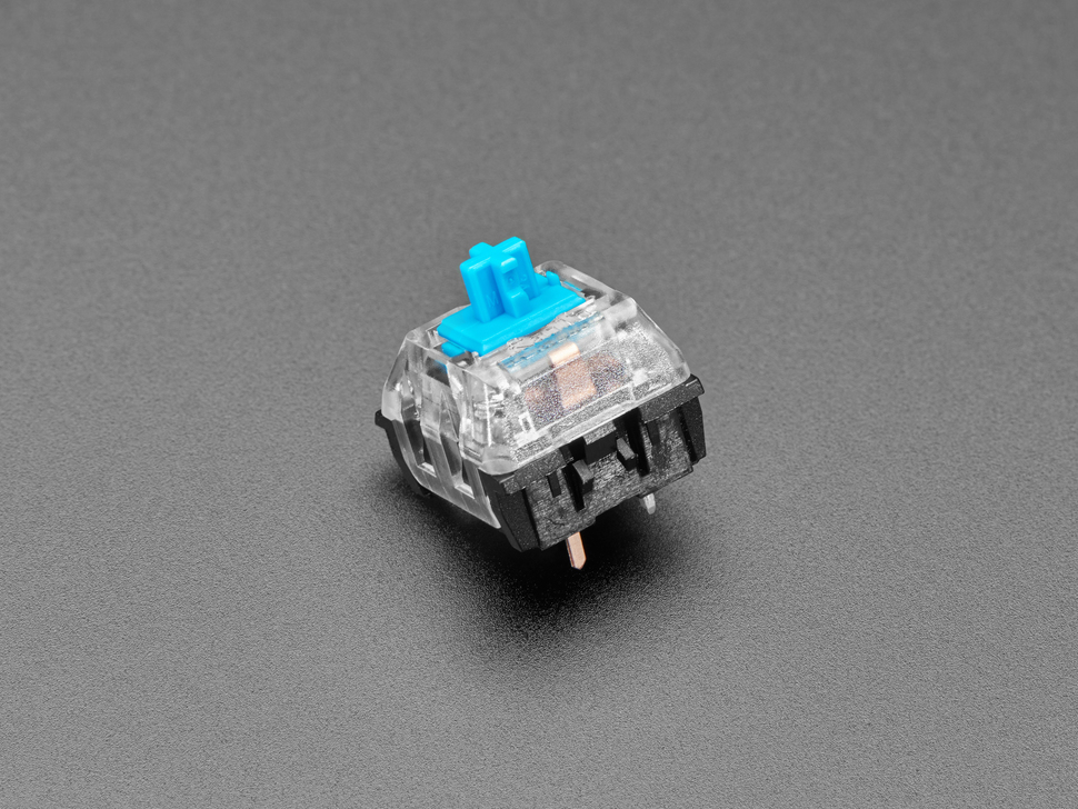 Single shot of 12 pack Blue Kailh Mechanical Key Switches
