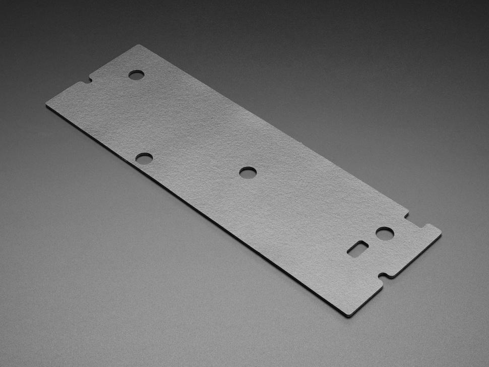 Angled shot of felt padding for keyboard enclosures.