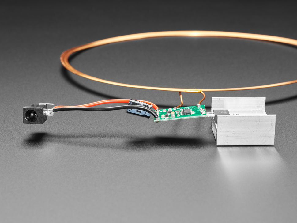Side profile view of 24V Inductive Coil Wireless LED kit.