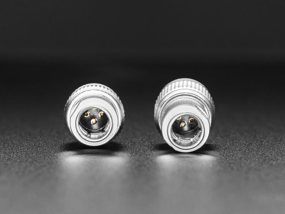 Close-up of interior connector diameters.