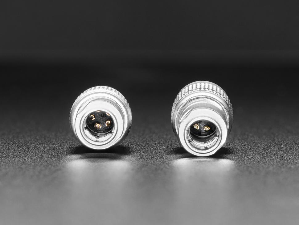 Close-up of interior connectors.