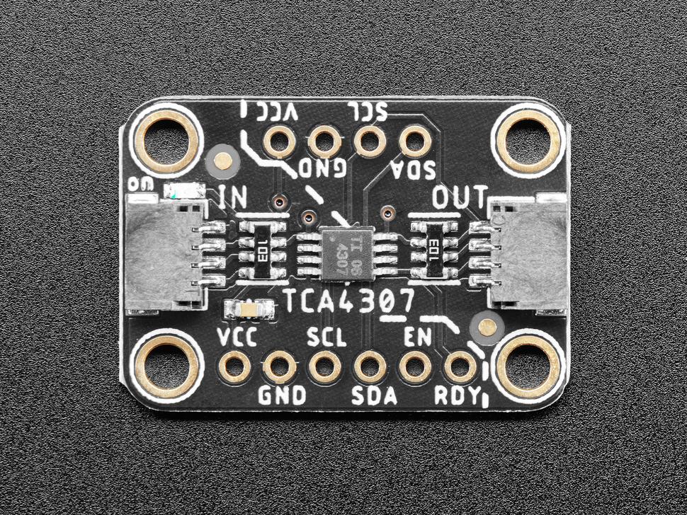 Top view of Adafruit TCA4307 Hot-Swap I2C Buffer PCB.