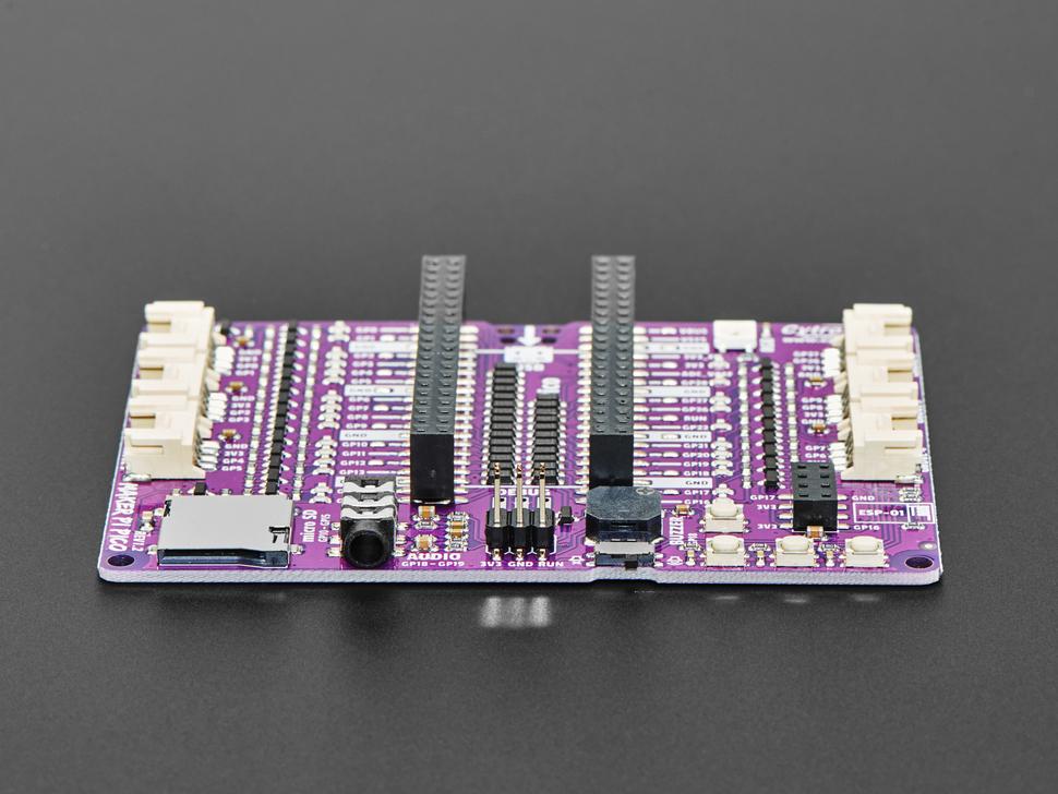 Side detail of Maker Pi Pico board.