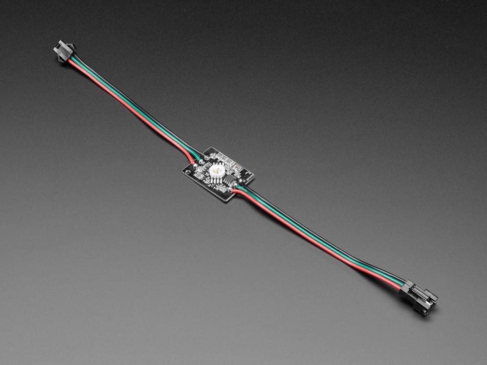 Angled shot of Ultra Bright 4 Watt Chainable NeoPixel LED.