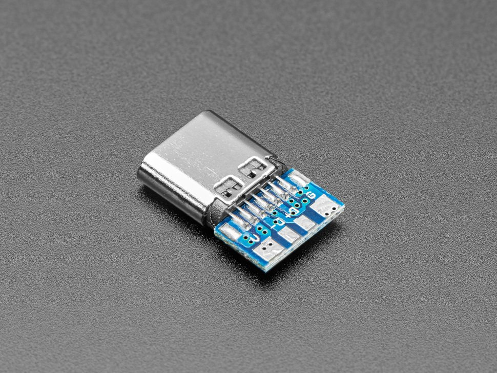 Reverse angled shot of USB C socket breakout.