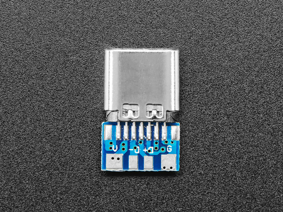 Top view of USB C socket breakout.