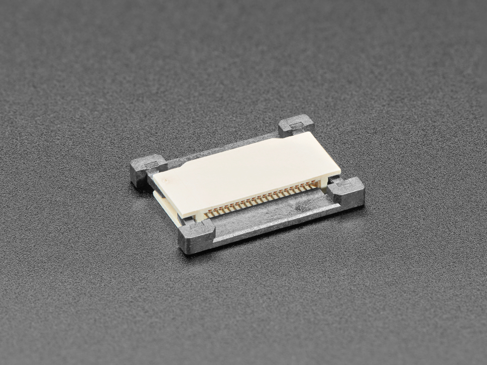 Angled shot of 20-pin 0.5mm FFC / FPC Extender.